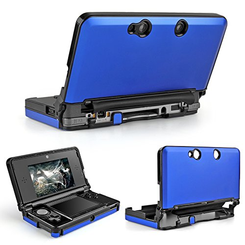 TNP 3DS Case (Blue) - Full Body Protective Snap-on Hard Shell Aluminium Plastic Skin Cover for Nintendo 3DS 2011 Model