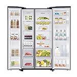 Samsung 700 L with Inverter Side-by-Side Refrigerator (RS72R5011SL/TL, EZ Clean Steel)