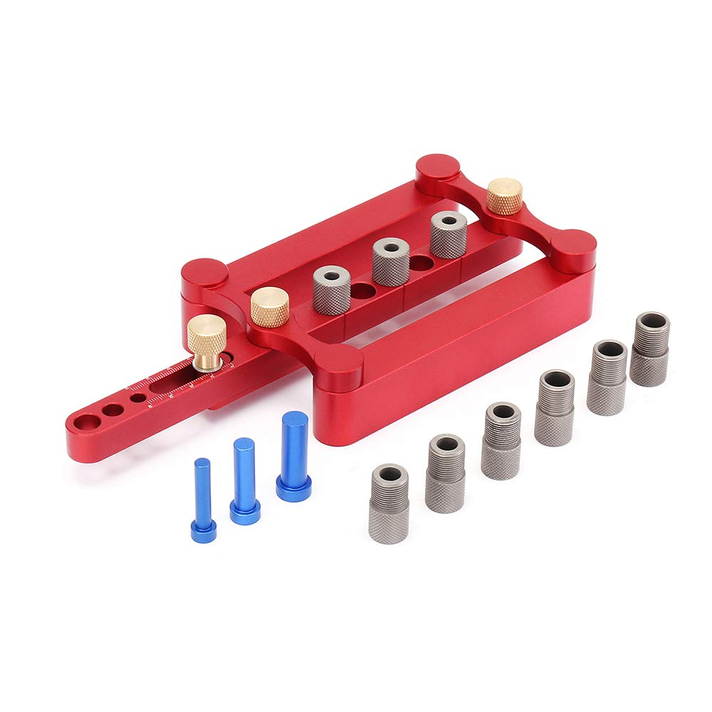 Tanchen Self Centering Dowelling Jig Metric Dowel 0.24/0.34/0.39in Drilling Tools for Wood Working