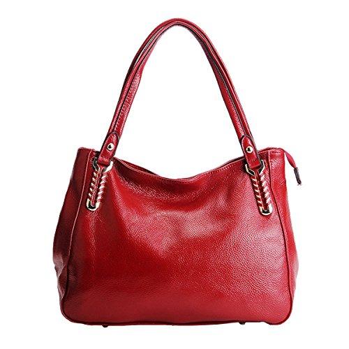 à portés Sac main 1820 cuir portés femme main bandoulière Sac épaule en LF Rouge Sac Valin fashion Sac qFWURng