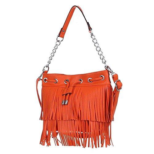 Ital-DesignSchultertasche bei Ital-Design - Bolso de hombro Mujer Naranja - naranja