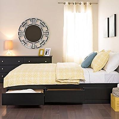 Metro Shop Yaletown Black Double/Full 6-drawer Platform Storage Bed-Yaletown Black Double 6-drawer platform storage bed