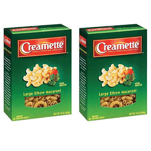 (Creamette Large Elbow Macaroni Noodles Pasta, 16 Ounce (Pack of 2))