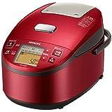日立 炊飯器 5.5合 圧力スチームIH式 3段階炊き分け機能搭載 おいしい少量炊き 蒸気カット RZ-AX10M R