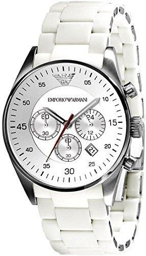 Emporio Armani - Reloj de pulsera hombre, plástico, color blanco: Amazon.es: Relojes