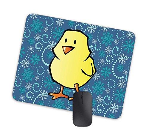 Lindo dibujado a mano Young pollo fondo mouse pad, antideslizante alfombrilla de goma gruesa