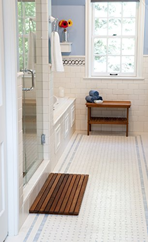 Plantation Teak Shower/Bath Mat (32'' x 14'') by Teakworks4u (Image #5)