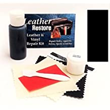 Leather Repair Kit with READY TO USE Color, BLACK