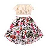 Baby Girl Dress Set Pink Ruffle Sleeveless