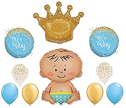 Gender Reveal Welcome Little Prince Princess Royal Boy Girl Confetti Print Baby Party Supplies Home, Furniture & DIY
