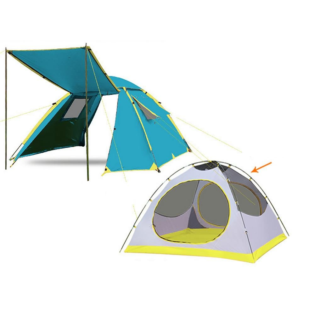 MIAO Outdoor Double Rain Prevention 3-4 Personen Camping Automatische Zelte