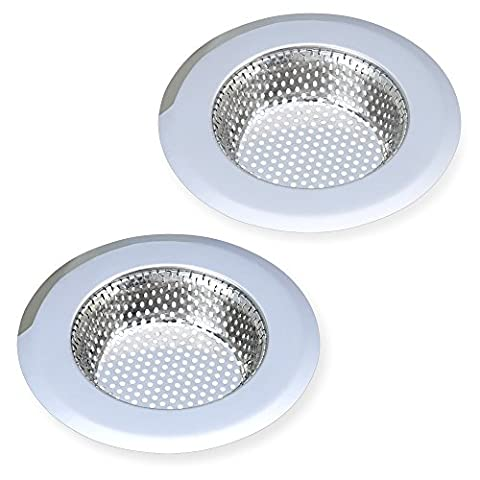 AULife Stainless Steel Kitchen Sink Strainer, Large Wide Rim 4.5