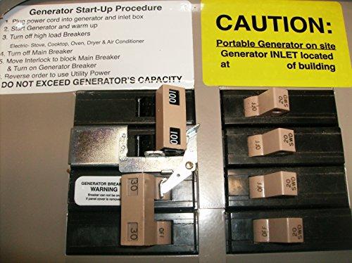 CH100UL Cutler Hammer Generator Interlock Kit CH SERIES ONLY 100 amp Main breaker by GenInterlock.com (Image #1)