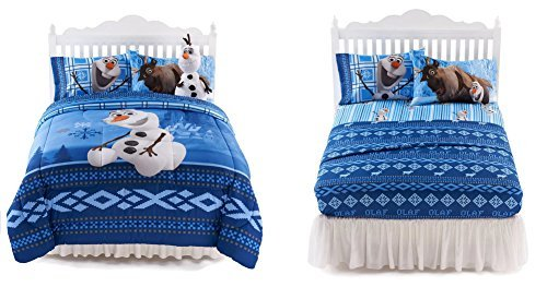 Disney Olaf Ice Friends Twin/Full Comforter & 3 Piece Twin Sheet Set