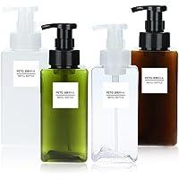 COODIO 650ml Bathroom Liquid Cosmetic Shampoo Liquid Soap Foam Dispenser Container Bottle Hand Pump Transparent