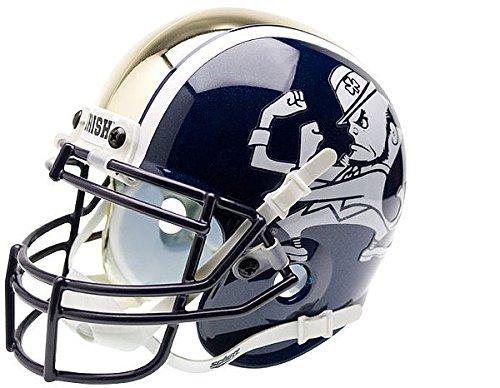 Schutt Notre Dame Fighting Irish Mini XP Authentic Helmet - Leprechaun - NCAA Licensed - Notre Dame Fighting Irish Collectibles