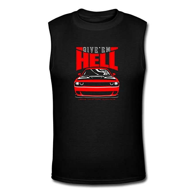 Outlet Give infierno Dodge Challenger Hellcat de hombre camisetas por sodasnie