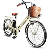 NAKTO Electric Bike Ebikes for Men and Women 26'' Electric Bicycle Comes a Detachable 36V 10Ah Lithium Battery & Battery Charger