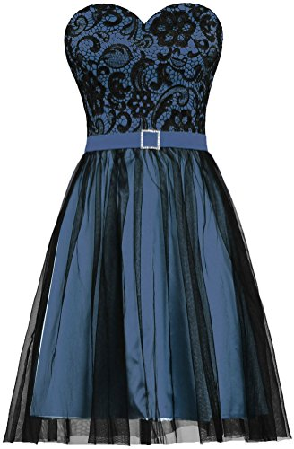 Tulle Evening Women's Party Prom Dress Black ANTS Short Lace Navy Dress qI1ESSwd