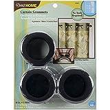Dritz 1-9/16-Inch Inner Diameter Curtain Grommets, 8-Pack, Matte Black