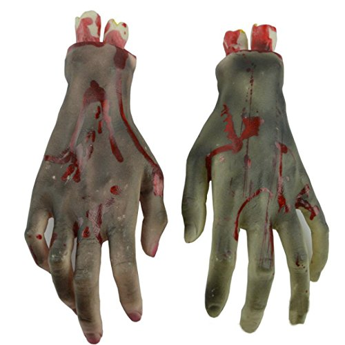 [Voberry® Halloween Horror Props Bloody Hand Foot Haunted House Party Decoration (Hand)] (Scary Fairy Costumes)