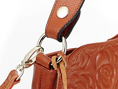 Leather satchel Purse Tote Hereby Clutch Handbag handle Black Women��s Cross Kuer Cow Top Shoulder Messenger Bag Body TM 6nXAXaRwI