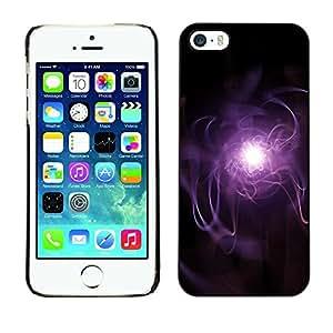 LECELL -- Funda protectora / Cubierta / Piel For Apple iPhone 5 / 5S -- Purple Lightning --