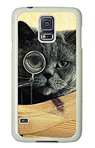 customizable Samsung Galaxy S5 cover Black Cat Funny Animals PC White Custom Samsung Galaxy S5 Case Cover
