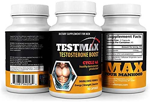 TestMax Male Performance Enhancer and Testosterone Booster- Increase Male Function and Build Lean Muscle Mass Fast- Add Male Size by Boosting Test Levels- 30 Day Supply
