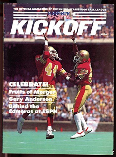 Usfl Kickoff Magazine Issue 6 1985 Fruits Of Merger Gary Anderson Good