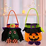AYUQI Halloween Non-Woven Fabric Candy Totes Bags Assorted Halloween Party& Holiday Trick-or-Treat Small Goody Gifts Set 3Pcs