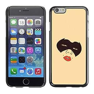 PC/Aluminum Funda Carcasa protectora para Apple Iphone 6 Masked Girl / JUSTGO PHONE PROTECTOR