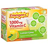 Cheap Emergen-C (30 Count, Lemon-Lime Flavor, 1 Month Supply) Dietary Supplement Fizzy Drink Mix with 1000mg Vitamin C, 0.33 Ounce Packets, Caffeine Free