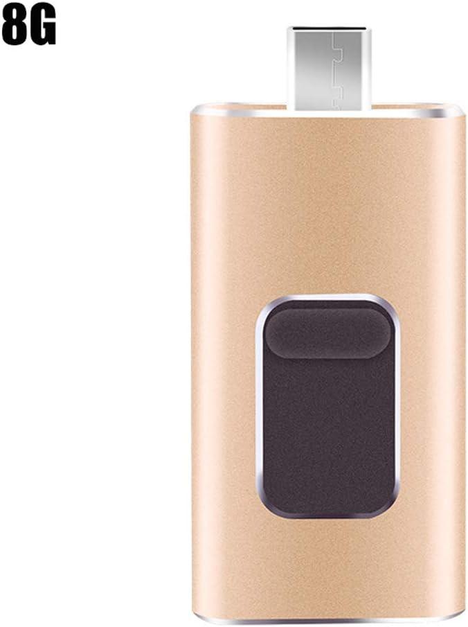 4-in-1 Mini Thumb Drive USB Stick Portable USB Flash Drive for Cell Phone PC Computer Universal 8G//16G//32G//64G//128G Lamoreco USB Flash Drive