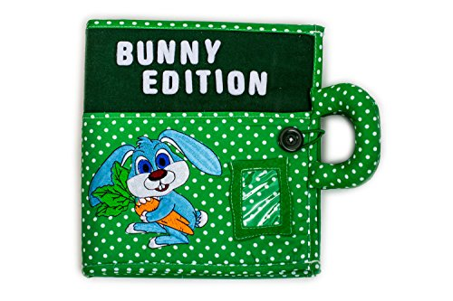 The creative child's quiet book BUNNY EDITION. Early learning, interactive activity quiet book for toddler development of fine motor skills, hand eye coordination. Learning Bunny