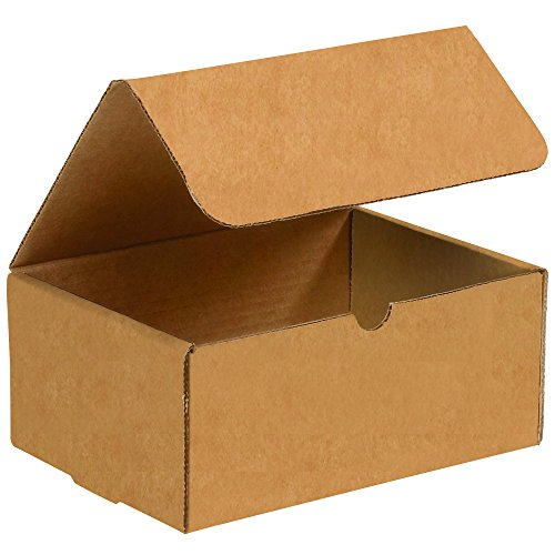 BOX USA BM943K Corrugated Mailers, 9'' x 4'' x 3'', Kraft (Pack of 50) by BOX USA