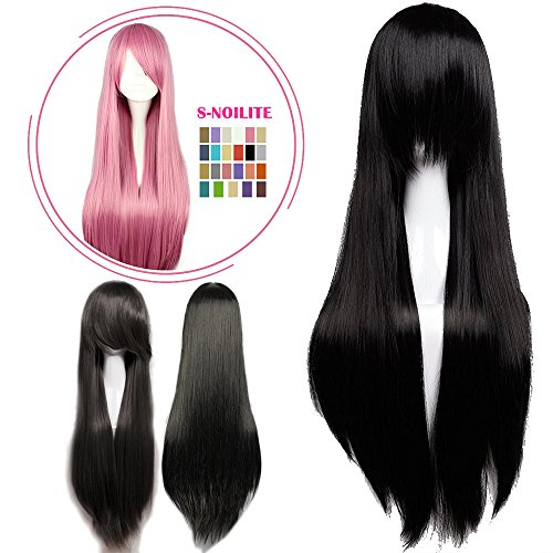 Anime Costumes For Female (S-noilite Cosplay Wig Real Thick Heat Resistant Synthetic Hair Halloween Anime Hair Costume Full Head Wigs For Womens Girls (32