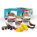 Health Warrior Chia Bars, Tropical Variety Pack, 3 Flavors, 100 Calories, 1060mg Omega-3s, 5g Sugar, 4g Fiber, Gluten Free, Vegan, 15 count, Net Wt. 13.2 Oz