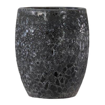 ボルカーノ トールラウンド 35 cm/テラコッタ/植木 鉢 プランター 【 ブラック 】 B01MSEXT4R  ブラック