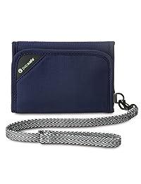 Pacsafe RFIDsafe V125 Anti-Theft RFID Blocking Tri-Fold Wallet, Navy Blue