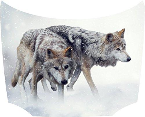 Bonnet Sticker 2 Wolves:
