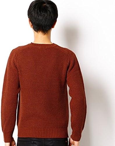 (MEN'S MELROSE) [洗濯可能]畔編みクルーネックニット
