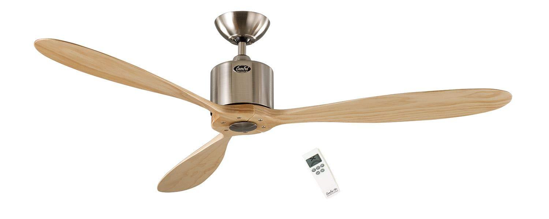 Ventilatore a Soffitto TITANIUM Cromo Spazzolato incl telecomando e luce 132 cm