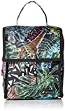 Sakroots Women's Artist Circle Packable Lunch Bag Daypack, Black Wild Life, One Size