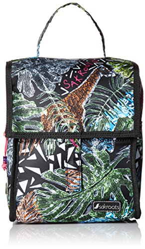 1546a0dec Sakroots Women's Artist Circle Packable Lunch Bag Daypack, Black ...