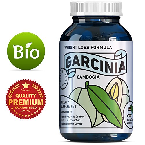 Potent & Pure Garcinia Cambogia For Men And Women - Appetite Suppressant - Workout Enhancer - Weight Loss Supplements For Men & Women - Garcinia Cambogia 95 HCA - Boost Focus + Energy