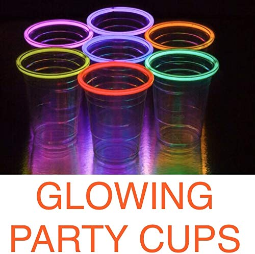 Solo Cup Lights (Glo Pro 16oz Multicolor 20-Count Variety Pack Neon Glowing Light Up Cups Glow Party Supplies Glow in the Dark Decorations Glow Party Favors Glow)