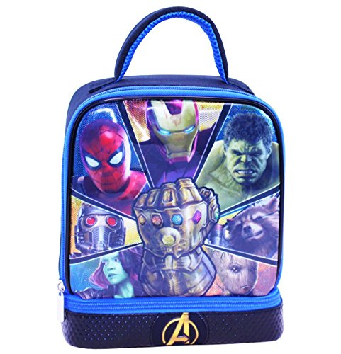 AVENGERS INFINITY WAR Light-Up BPA & PVC Safe Insulated Dual Lunch Tote Box