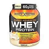 Body Fortress Super Advanced Whey Protein Powder, Vanilla 31.2 oz (Pack of 2)