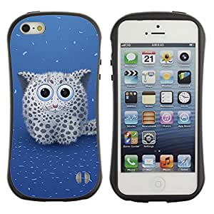 Paccase / Suave TPU GEL Caso Carcasa de Protección Funda para - Cute Snow Leopard - Apple Iphone 5 / 5S